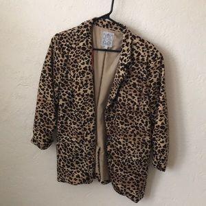Cheetah blazer